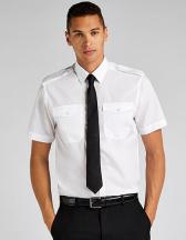 Men`s Tailored Fit Pilot Shirt Short Sleeve
