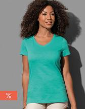 Sharon Slub V-Neck for women