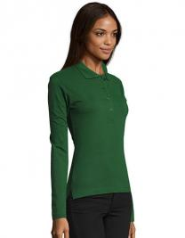 Ladies` Longsleeve Polo Podium